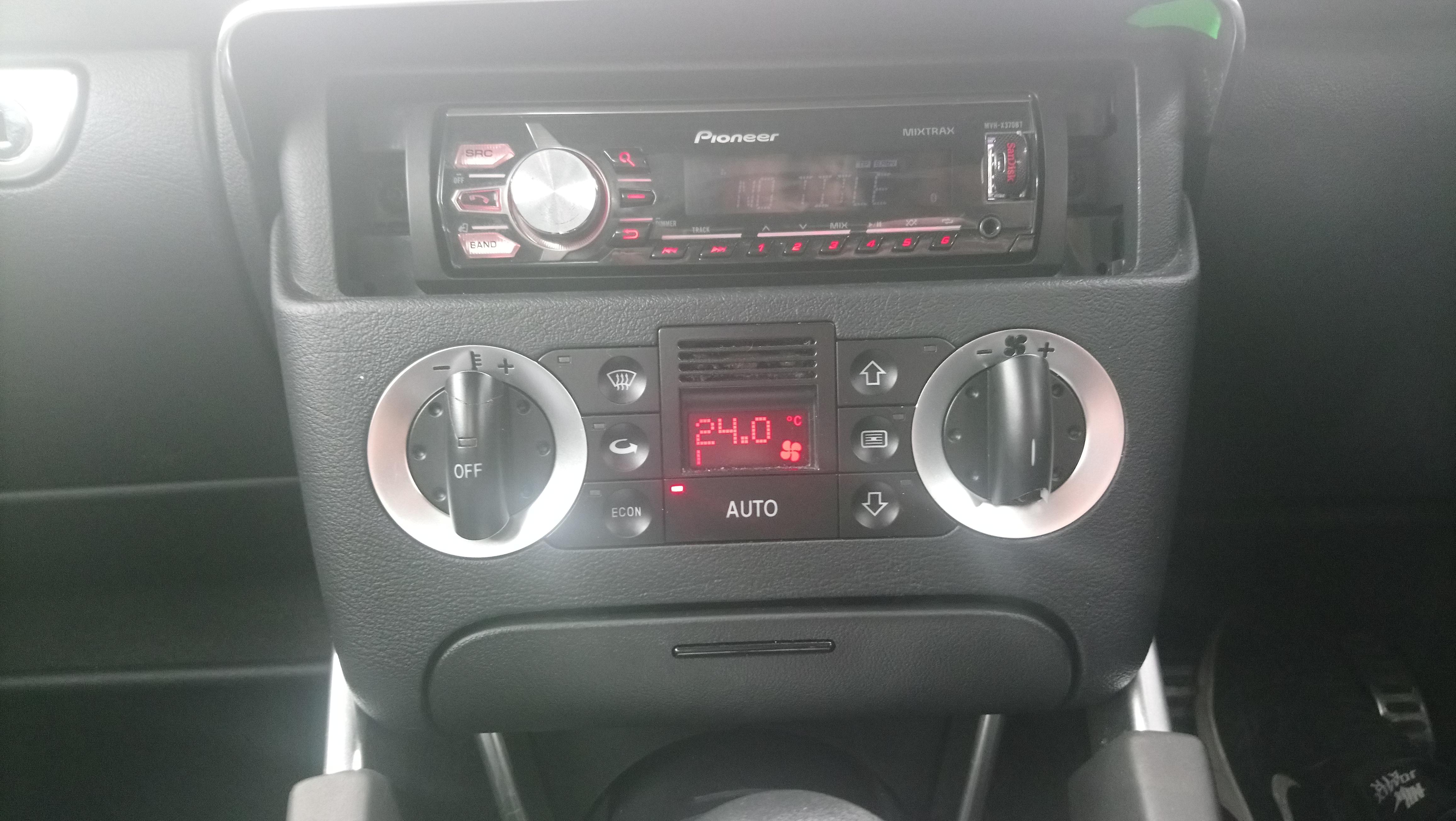 console centrale AUDI TT V6
