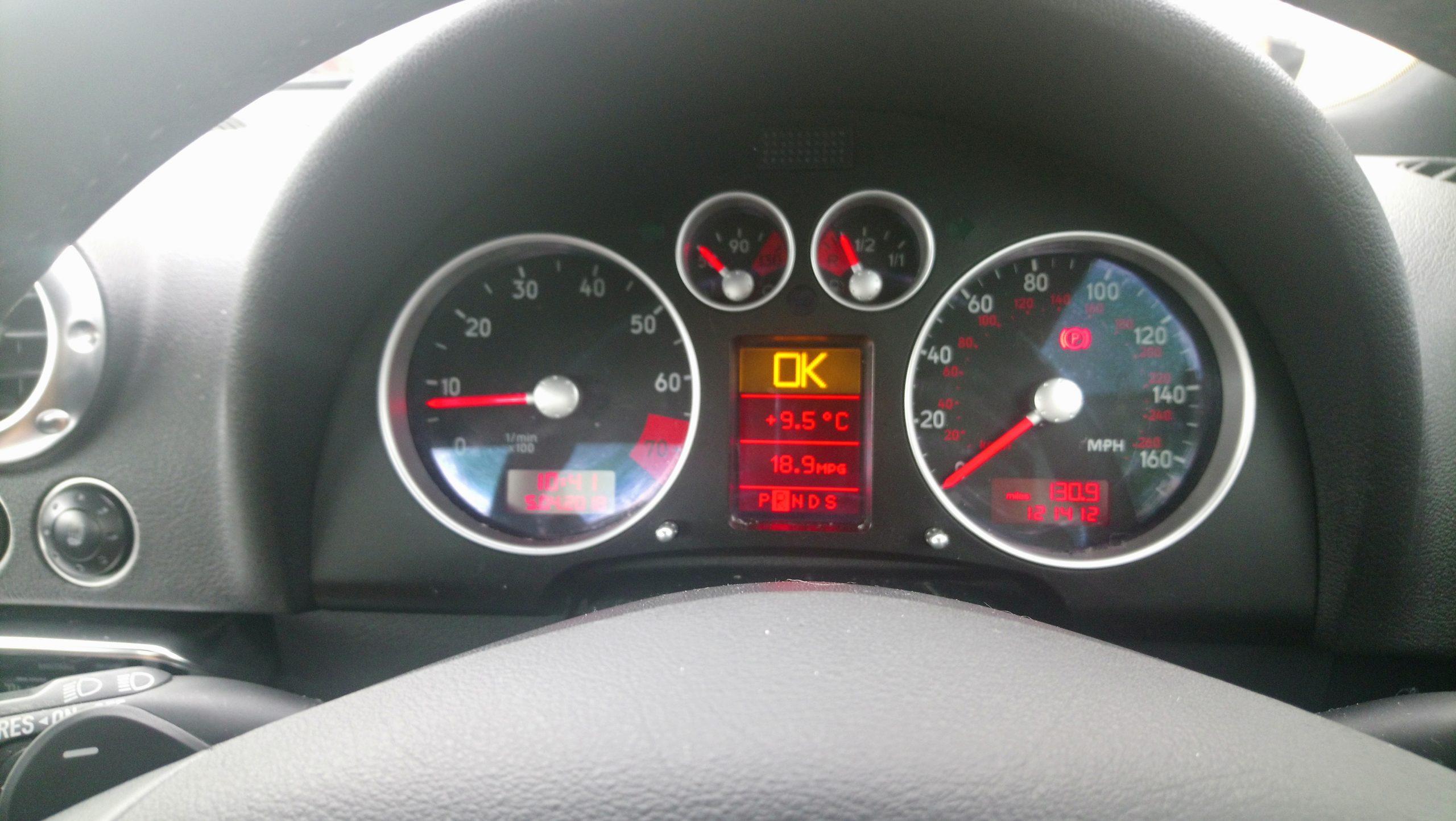 Tableau de bord AUDI TT V6